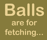 Balls are for fetching Tee
